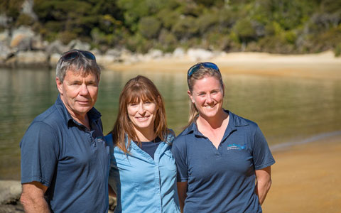Enjoy the personal service you'll receive from the team at Abel Tasman Charters