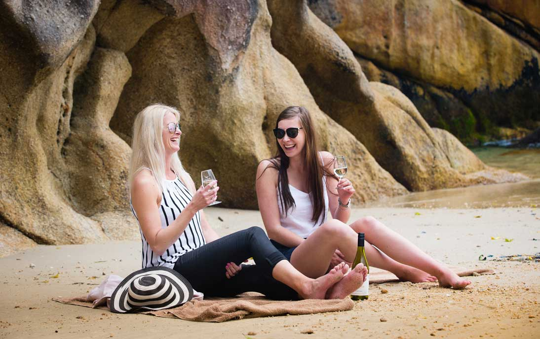 Enjoy wine in the wilderness of Abel Tasman National Park