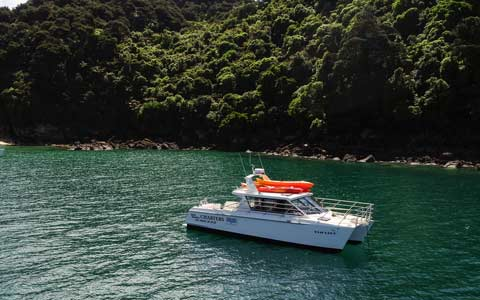 Welcome aboard Taranui, Abel Tasman Charters' power cat.