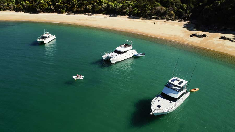 Abel Tasman Charters launches all together