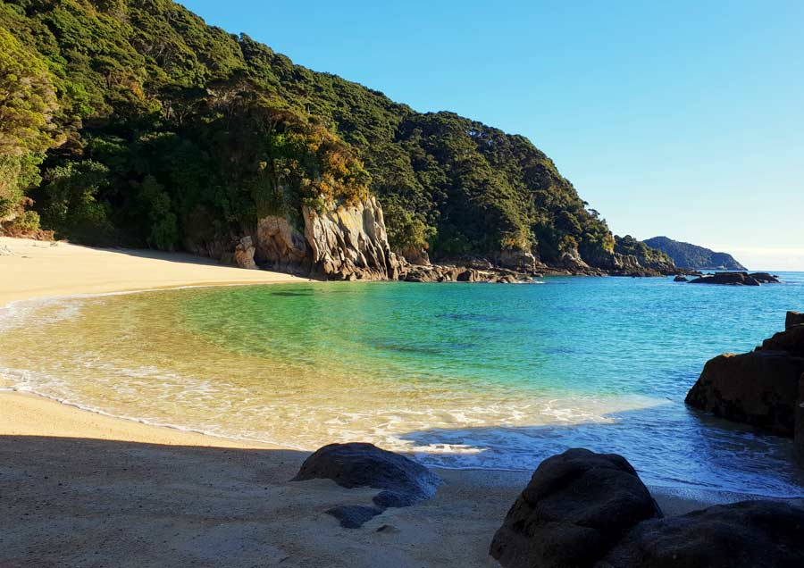 The golden sands of the Abel Tasman