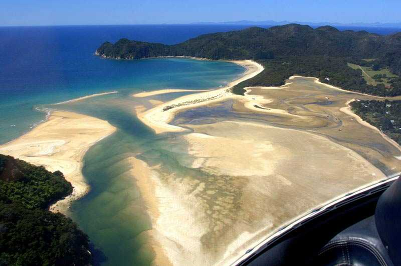 View of the Abel Tasman from your helicopter